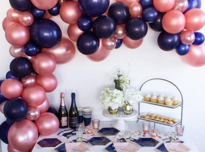 Rose Gold Let/'s Party Tableware 20 of each Paper Cups and Plates