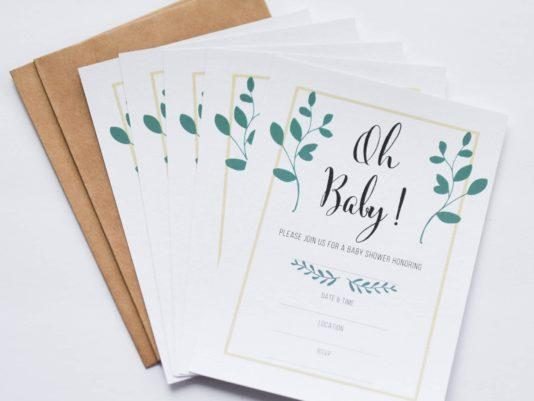 Several invitations stacked on top of each other